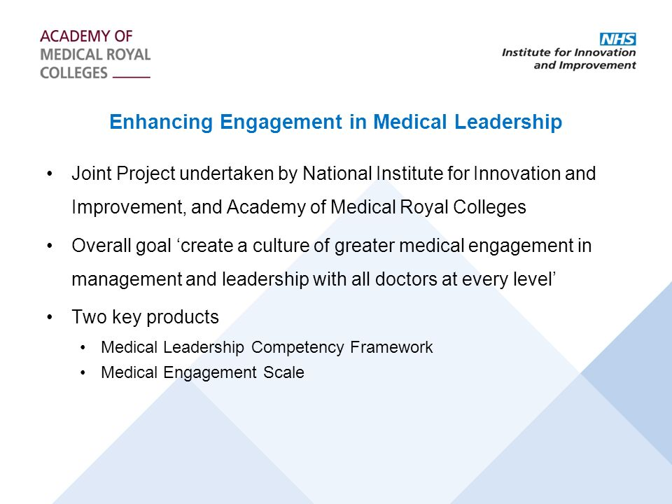 Enhancing Engagement in Medical Leadership