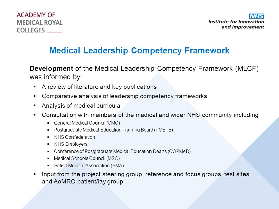 Medical Leadership Competency Framework
