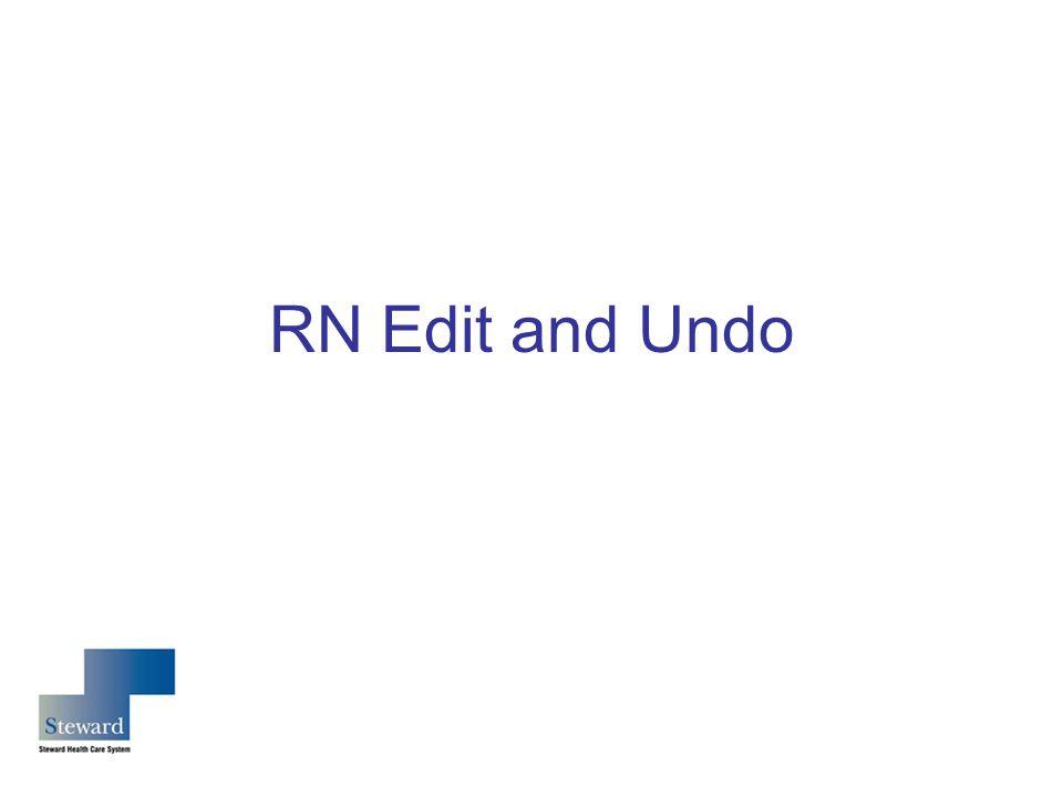 RN Edit and Undo
