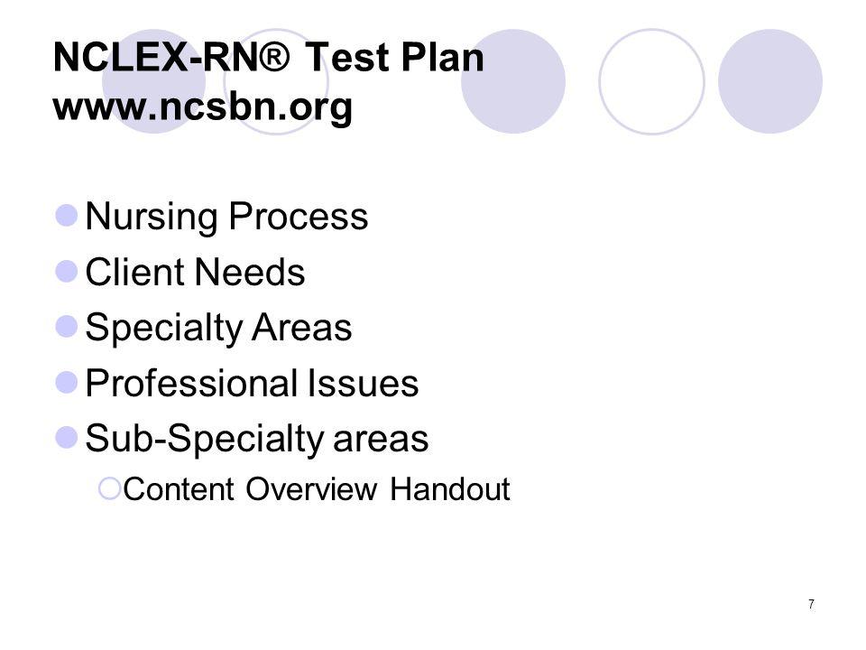 NCLEX-RN® Test Plan www.ncsbn.org