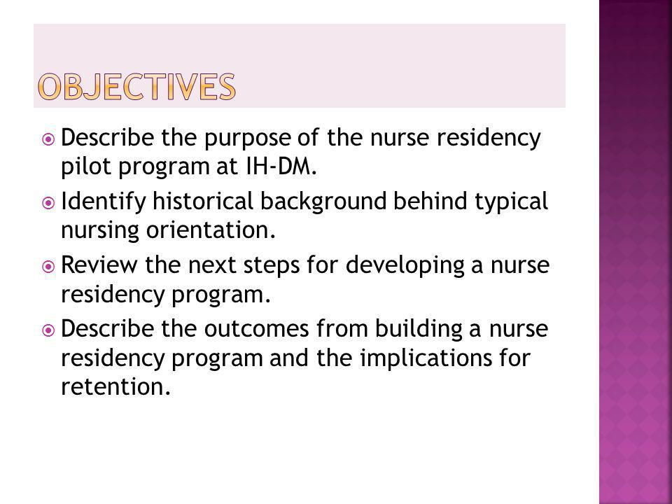 Perceptions Of A Nurse Residency Program Ppt Download