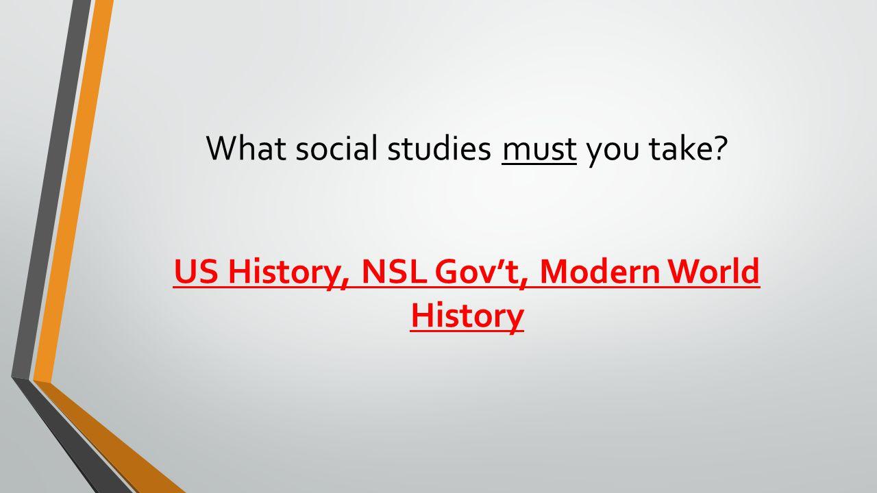 What social studies must you take