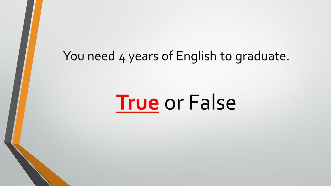 You need 4 years of English to graduate.