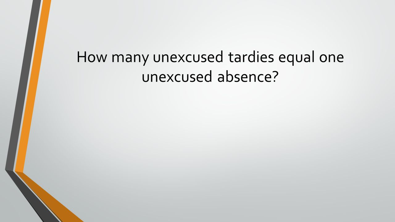 How many unexcused tardies equal one unexcused absence