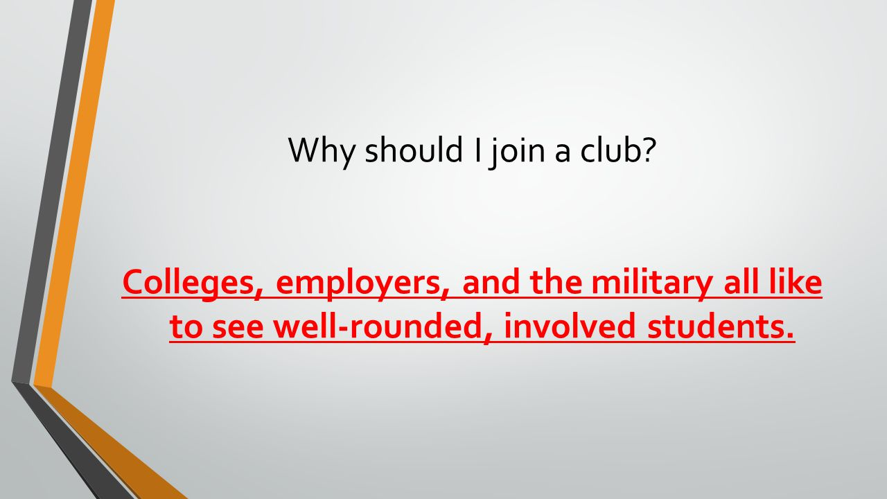 Why should I join a club.