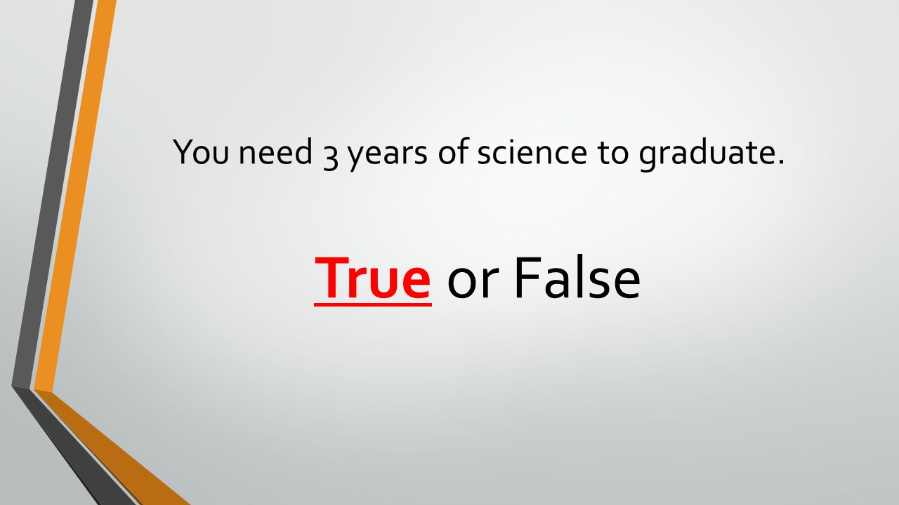 You need 3 years of science to graduate.