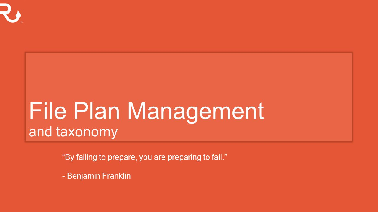 File Plan Management and taxonomy