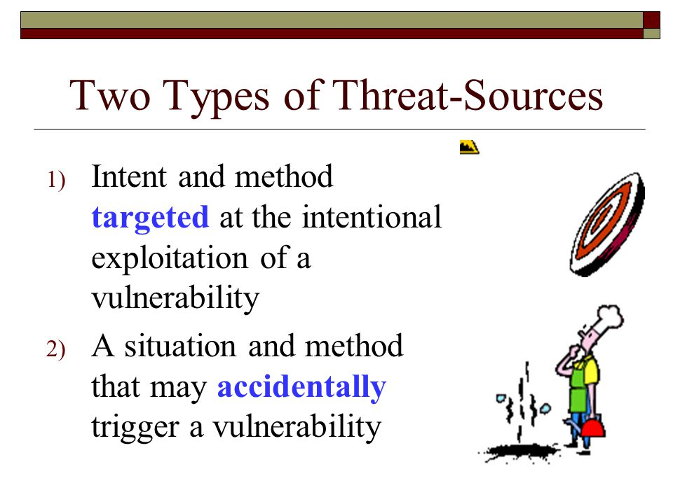 Two Types of Threat-Sources