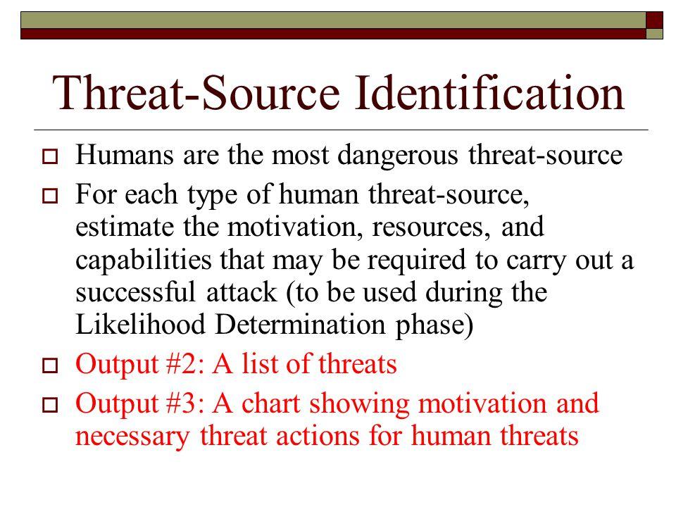 Threat-Source Identification