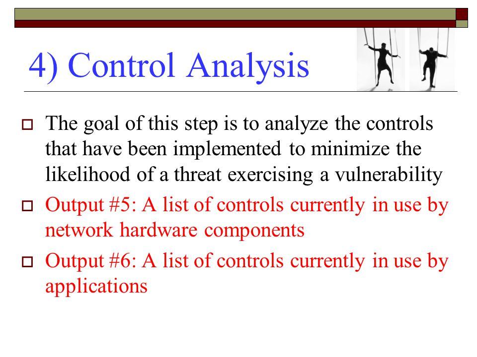 4) Control Analysis