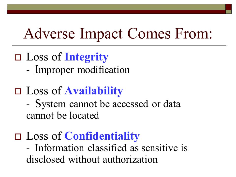 Adverse Impact Comes From: