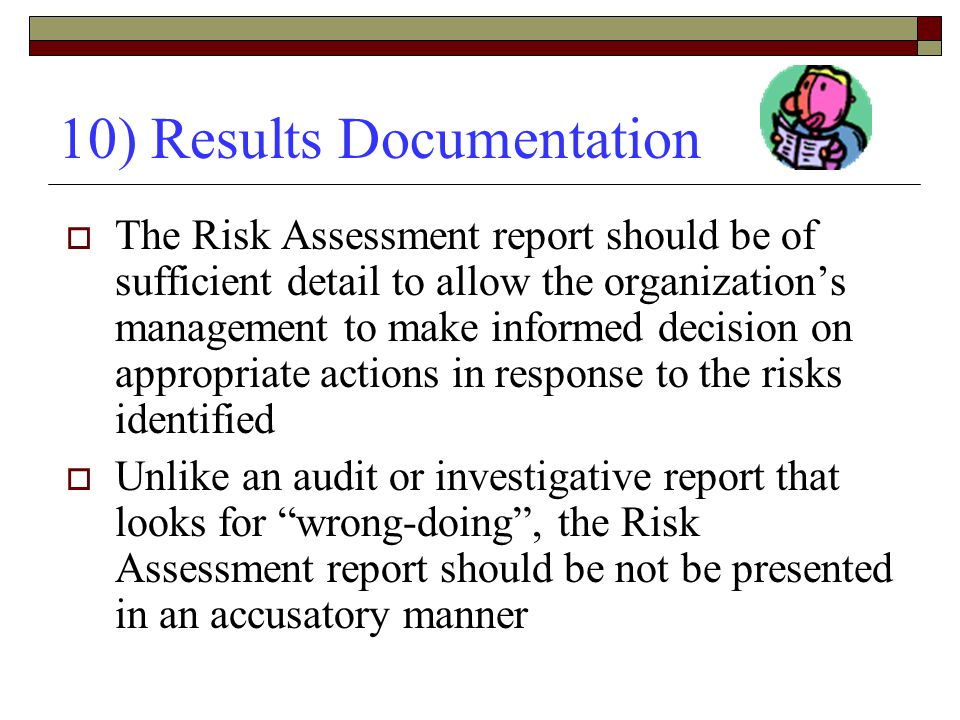10) Results Documentation