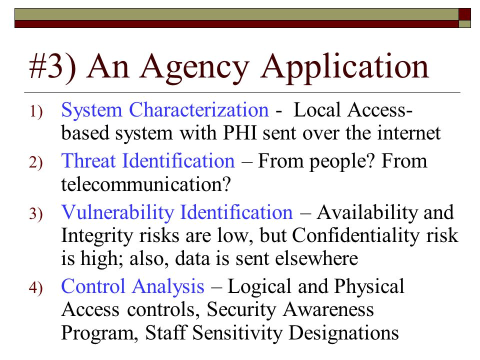 #3) An Agency Application