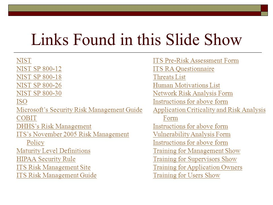 Links Found in this Slide Show