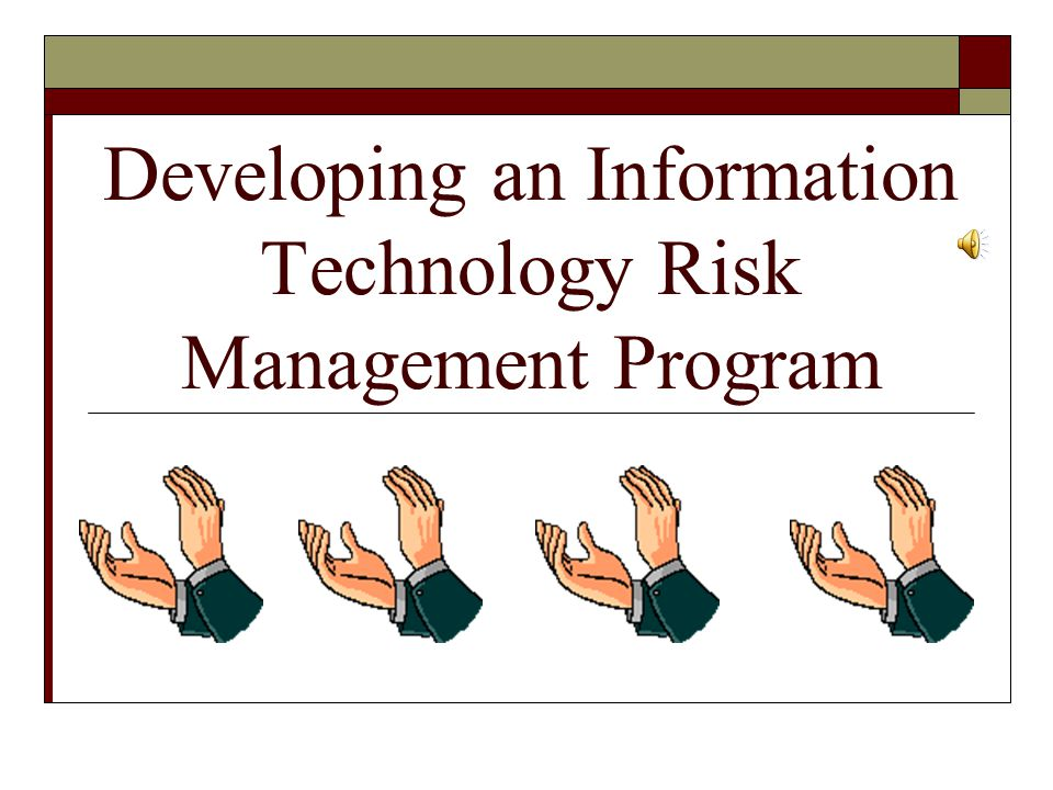Developing an Information Technology Risk Management Program