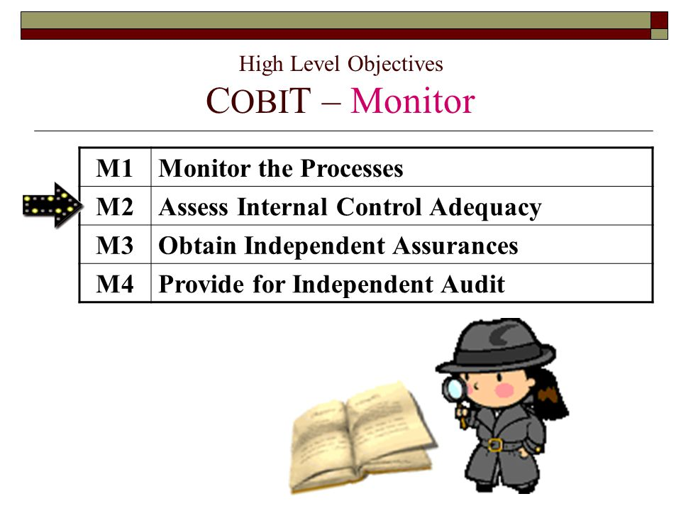 High Level Objectives COBIT – Monitor
