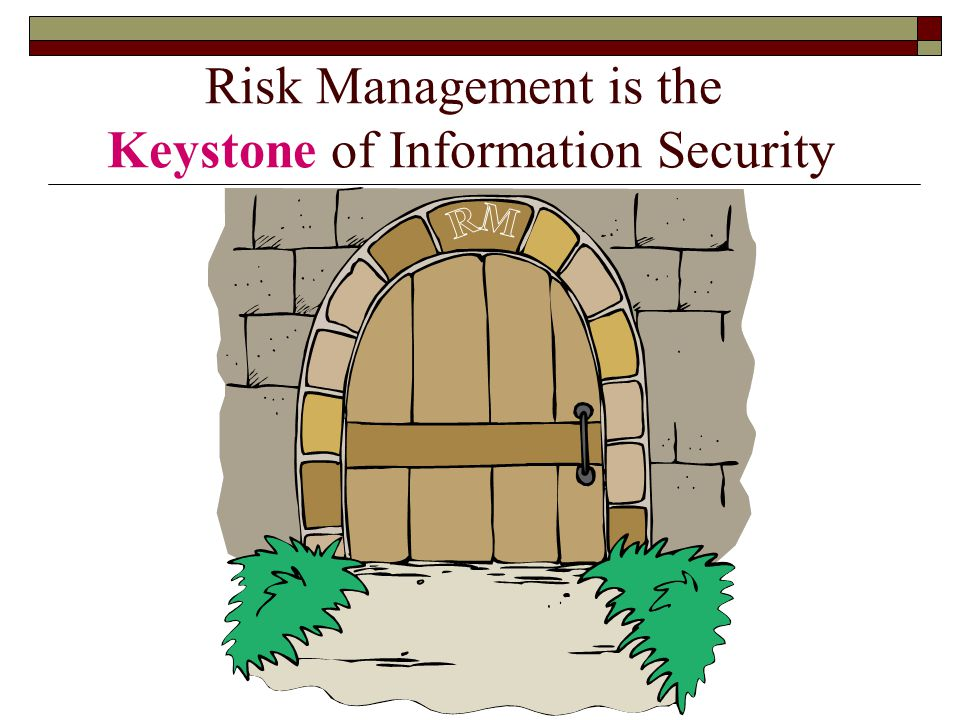 Risk Management is the Keystone of Information Security