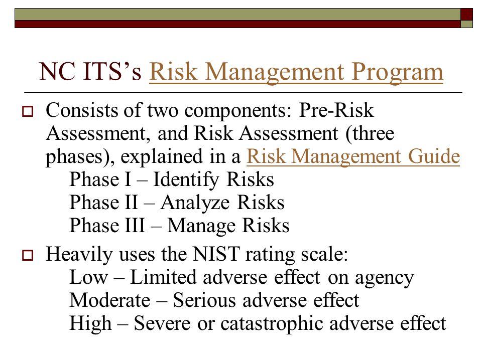 NC ITS's Risk Management Program