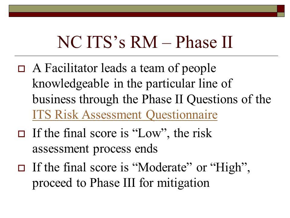 NC ITS's RM – Phase II
