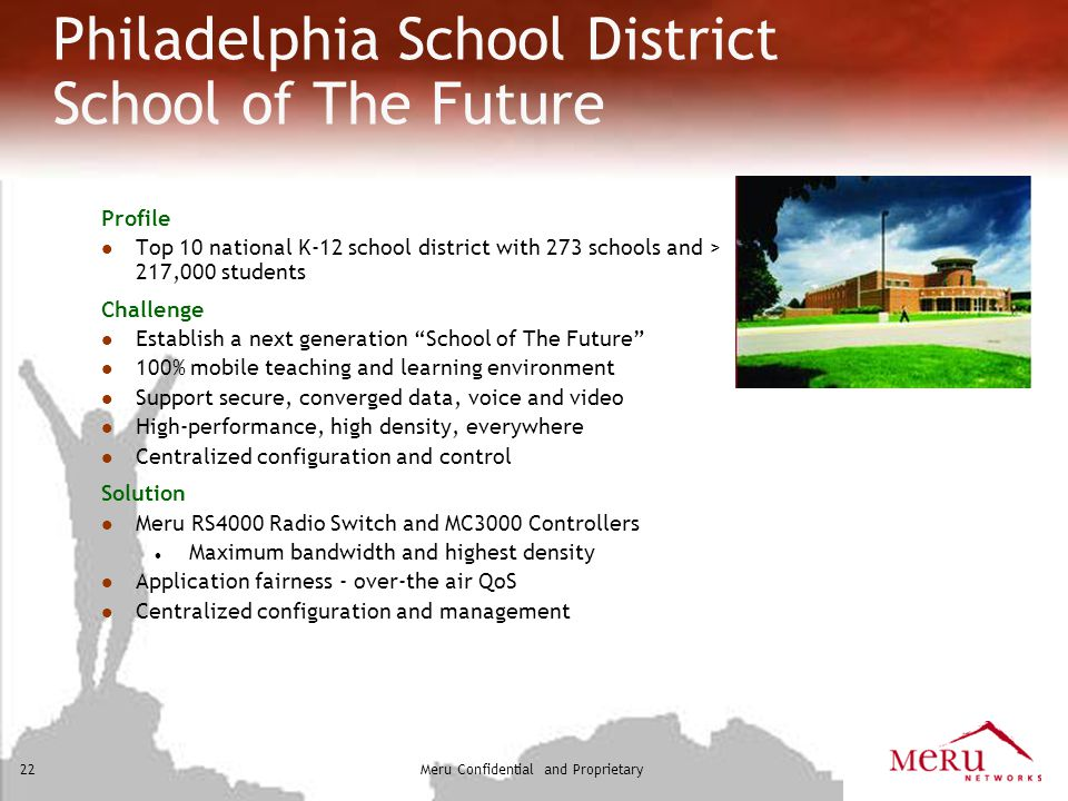 Philadelphia School District School of The Future