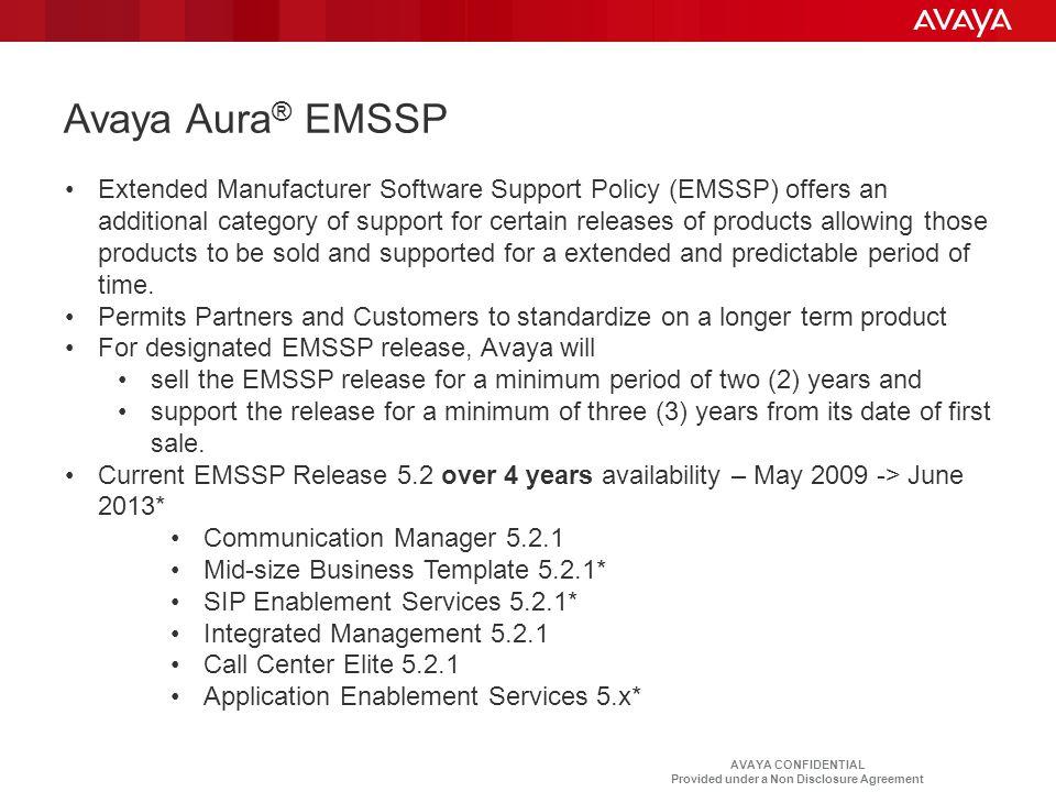 Avaya Aura® EMSSP