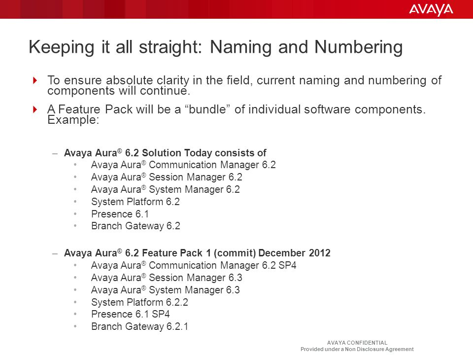 Keeping it all straight: Naming and Numbering
