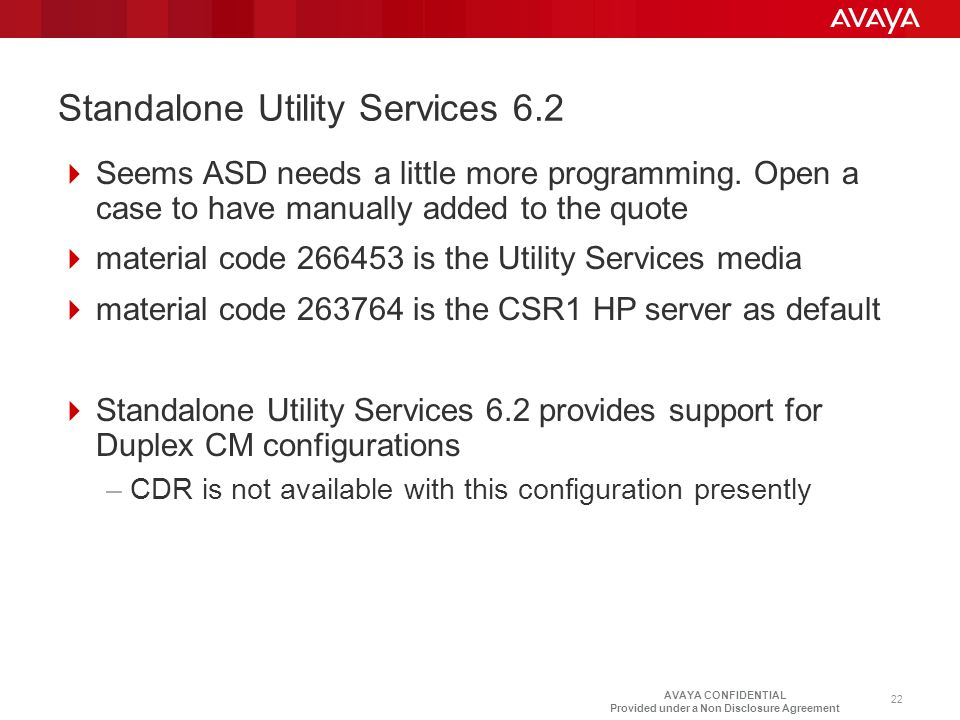 Standalone Utility Services 6.2