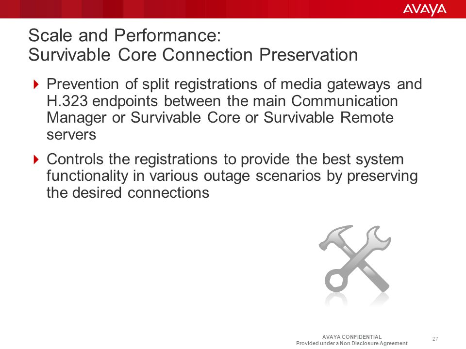 Scale and Performance: Survivable Core Connection Preservation