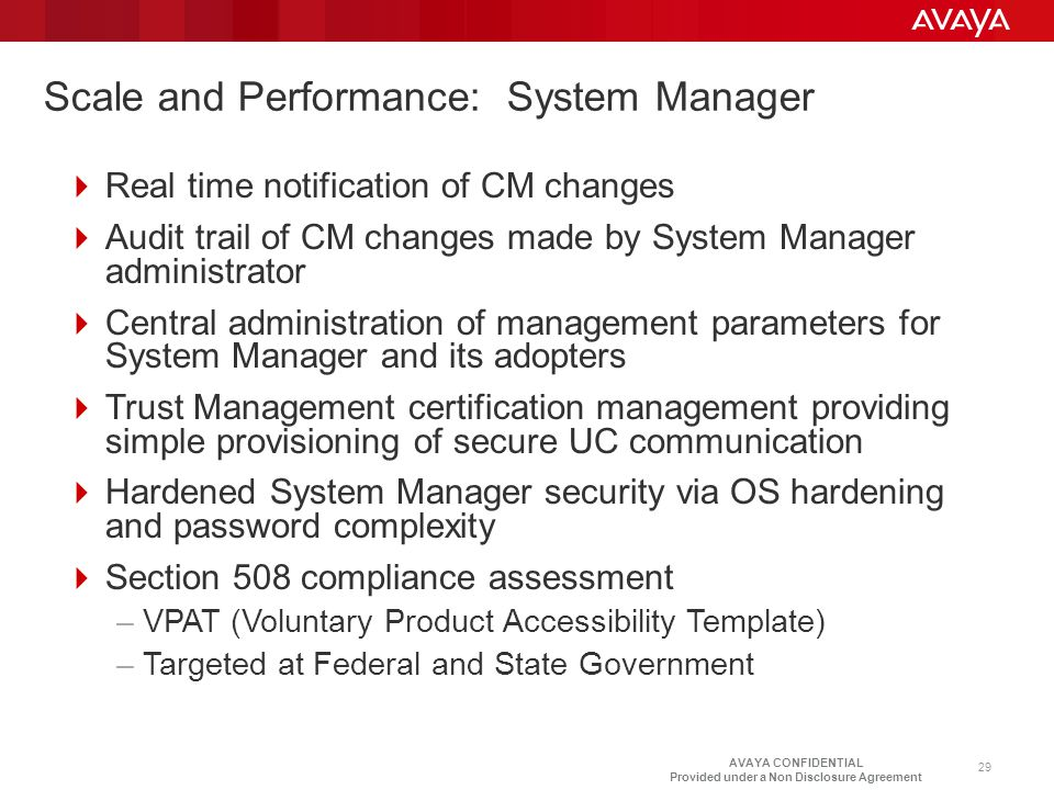 Scale and Performance: System Manager