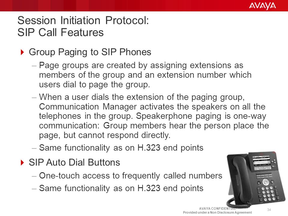 Session Initiation Protocol: SIP Call Features