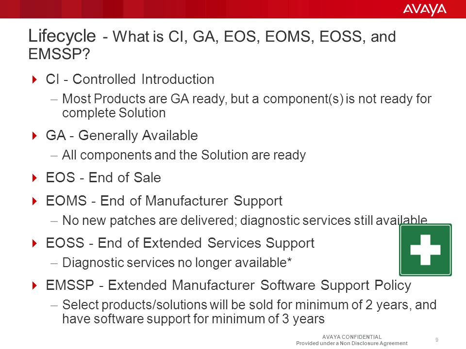 Lifecycle - What is CI, GA, EOS, EOMS, EOSS, and EMSSP