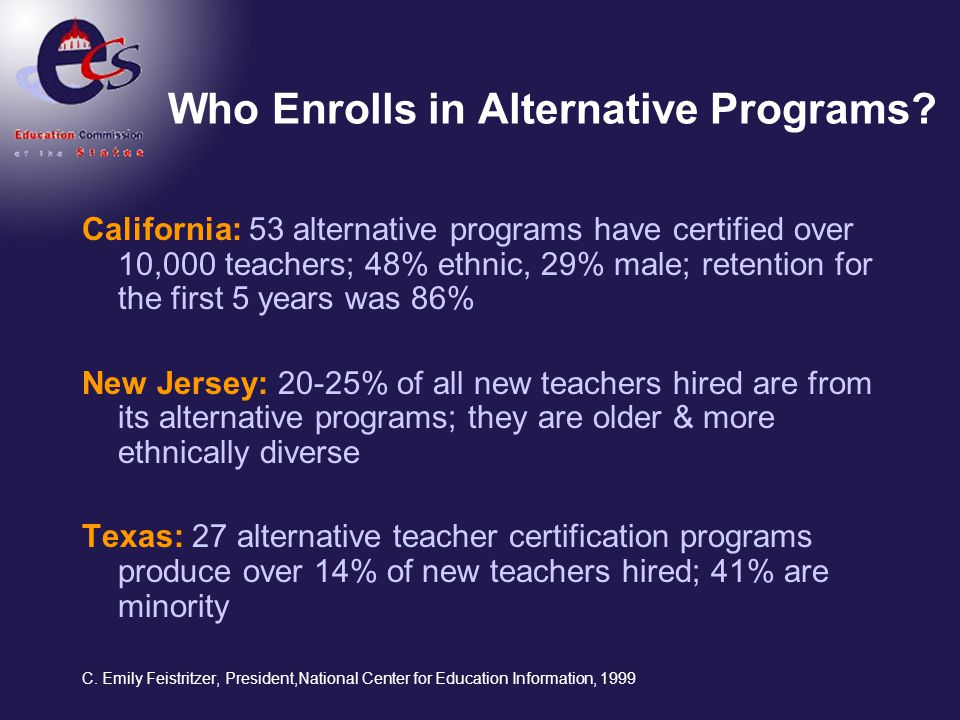 Who Enrolls in Alternative Programs