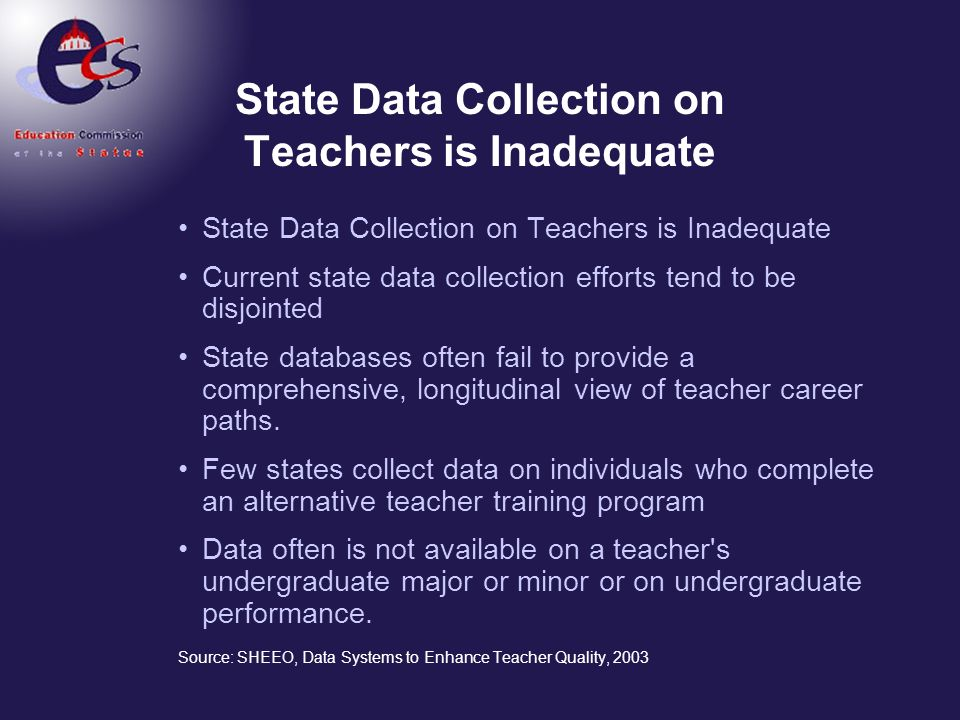 State Data Collection on Teachers is Inadequate