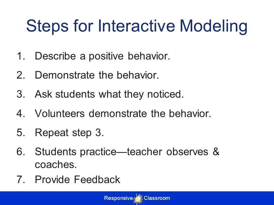 Steps for Interactive Modeling