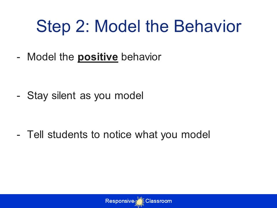 Step 2: Model the Behavior
