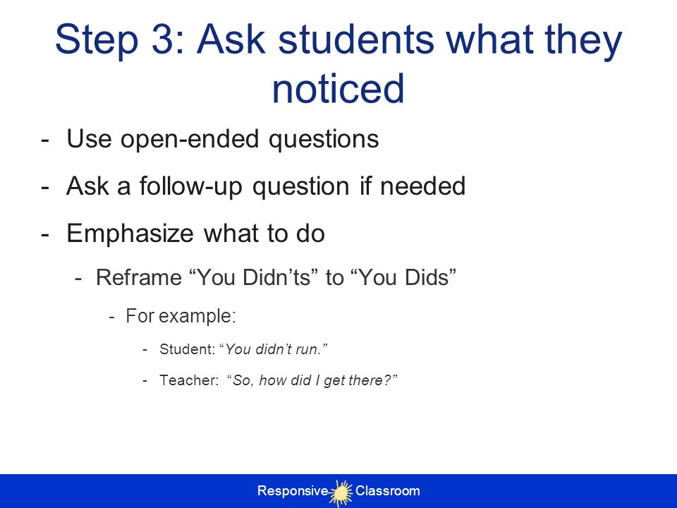 Step 3: Ask students what they noticed