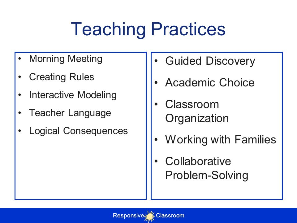 Teaching Practices Guided Discovery Academic Choice
