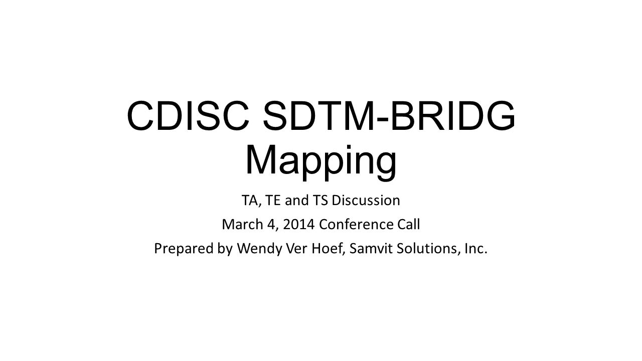 CDISC SDTM-BRIDG Mapping