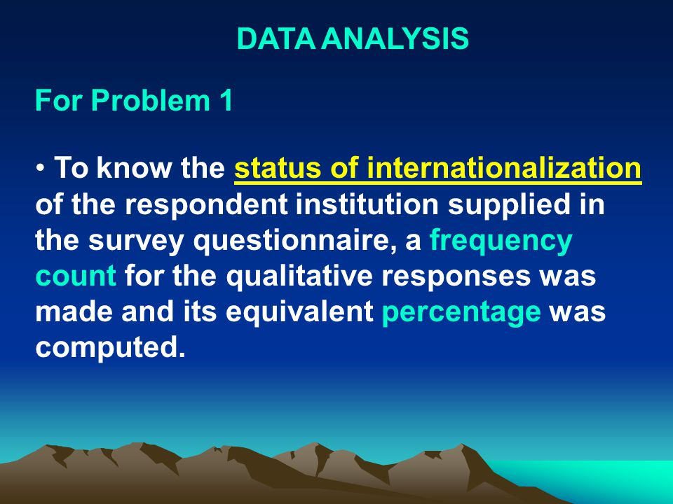 DATA ANALYSIS For Problem 1.