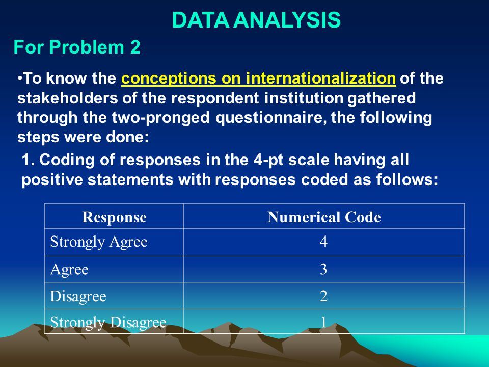 DATA ANALYSIS For Problem 2