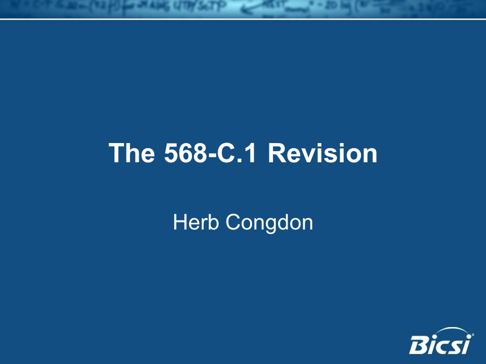 The 568-C.1 Revision Herb Congdon