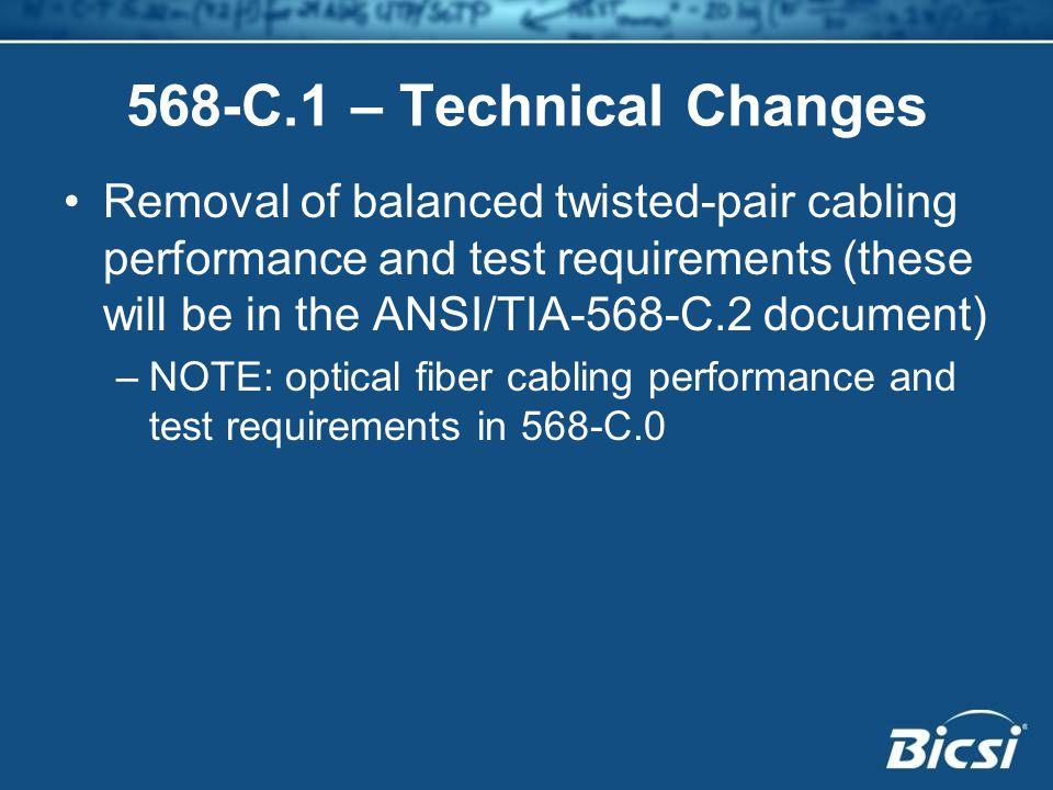 568-C.1 – Technical Changes