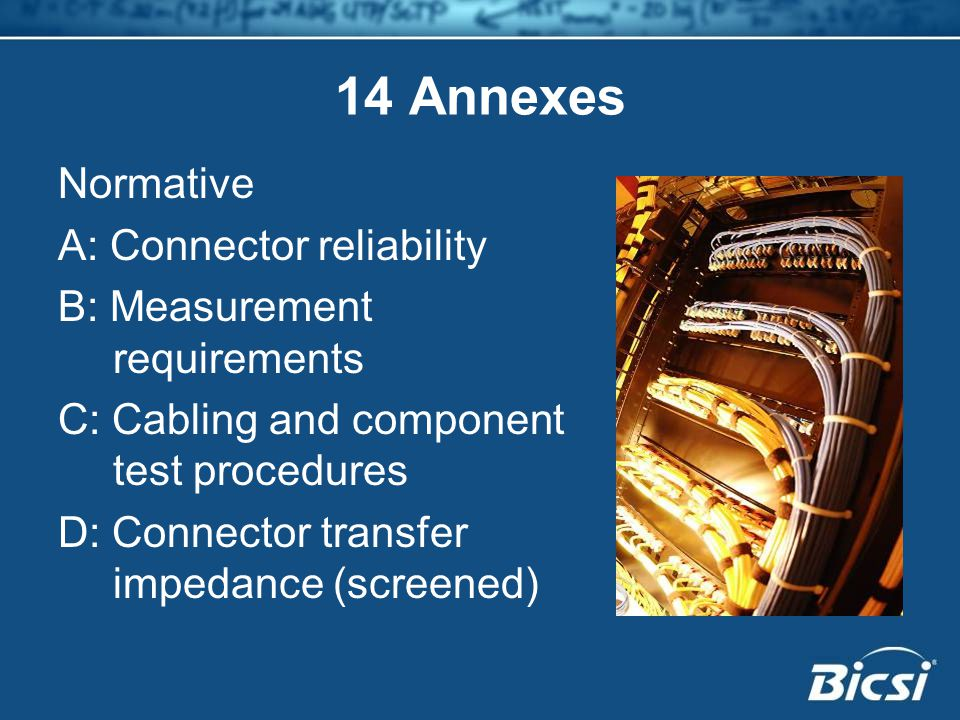 14 Annexes Normative A: Connector reliability