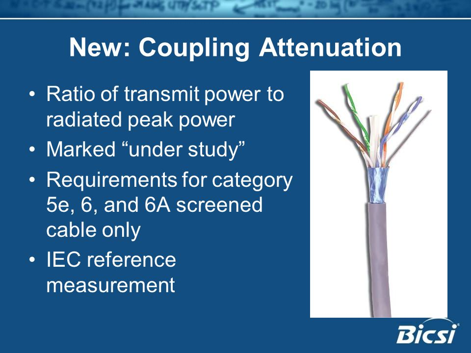 New: Coupling Attenuation