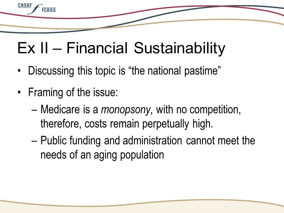 Ex II – Financial Sustainability