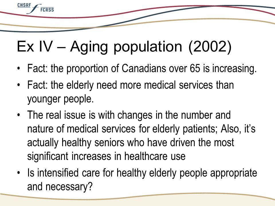Ex IV – Aging population (2002)