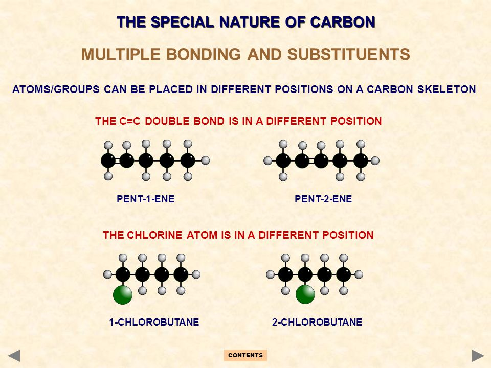 MULTIPLE BONDING AND SUBSTITUENTS