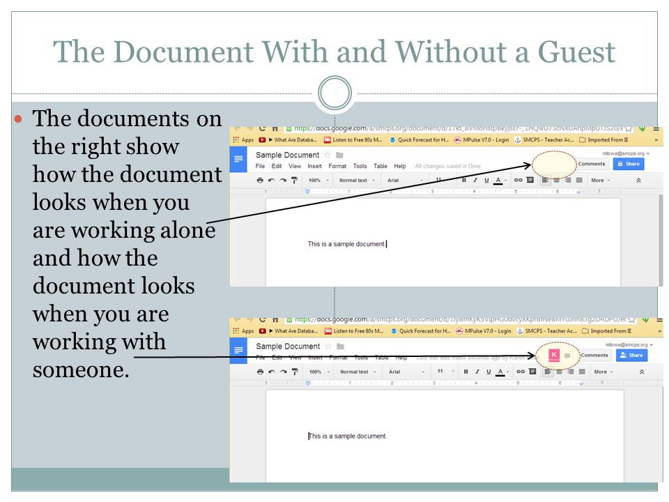 The Document With and Without a Guest