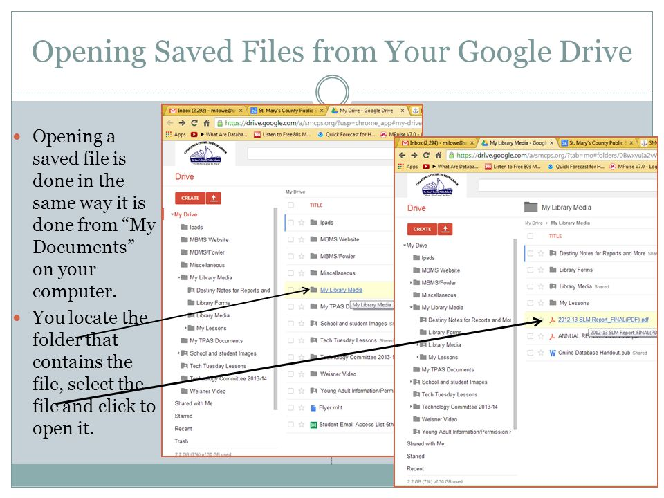 Opening Saved Files from Your Google Drive