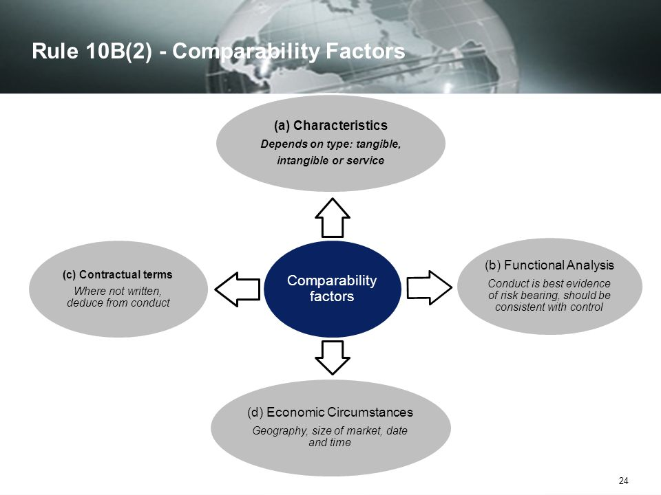 Rule 10B(2) - Comparability Factors